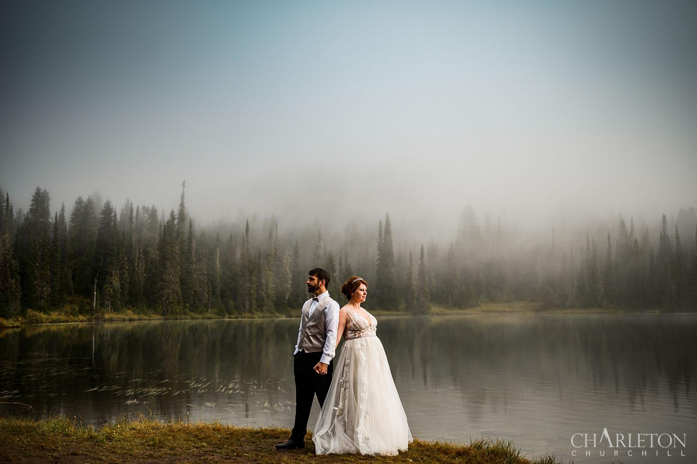 mt. rainier elopement wedding photographer
