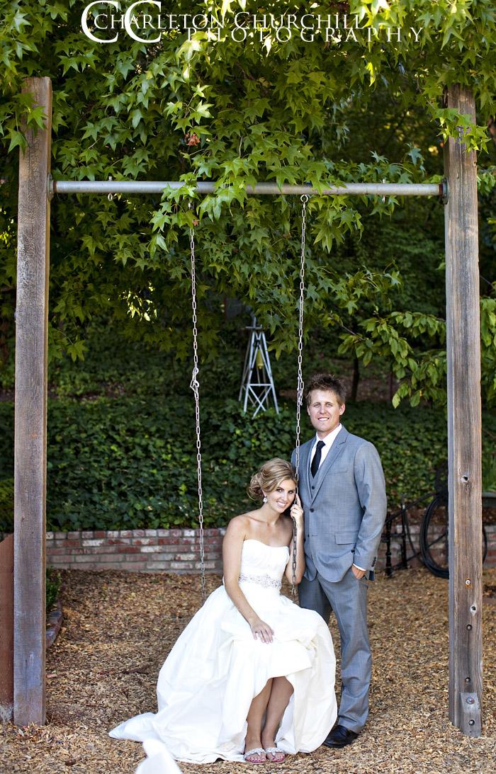 Sacramento bride in swing pose