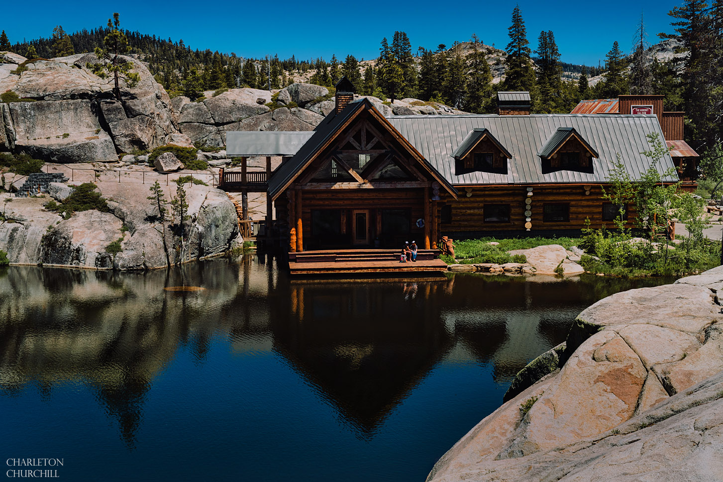 rustic lodge off grid weddings in the forests of california with a lake and lodge or cabin