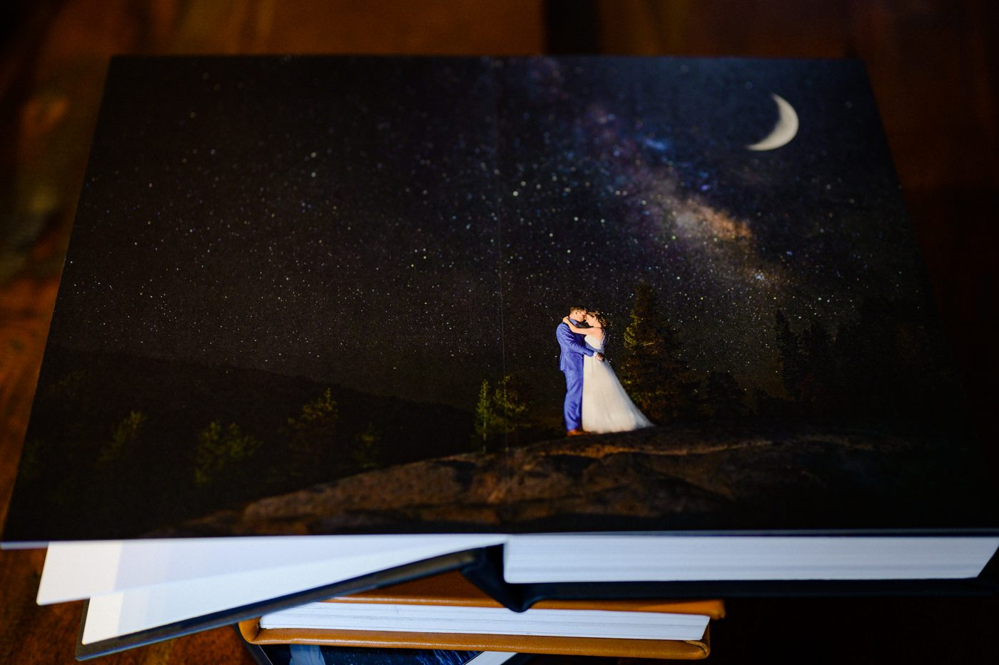 wedding album print from the stars and moon lake tahoe the hideout
