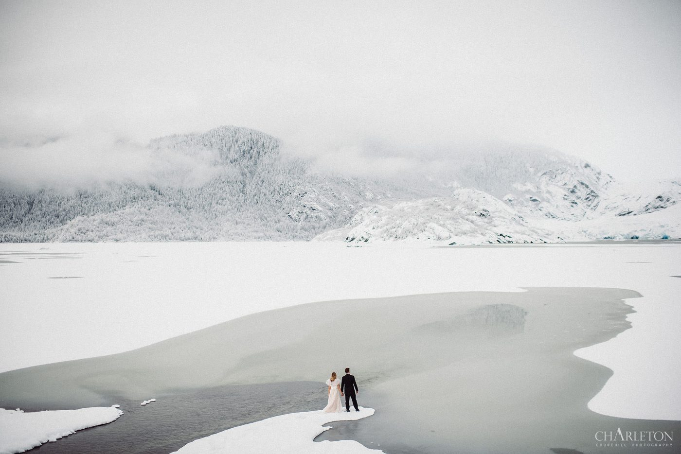 alaska elopement on a glacier