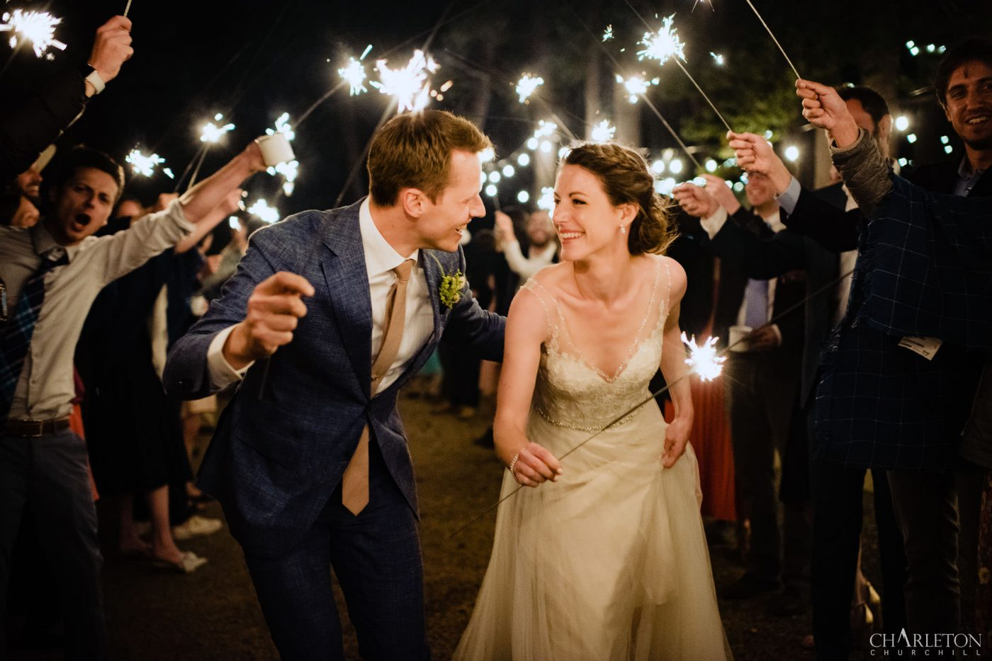 sparklers send off couple in lake tahoe wedding