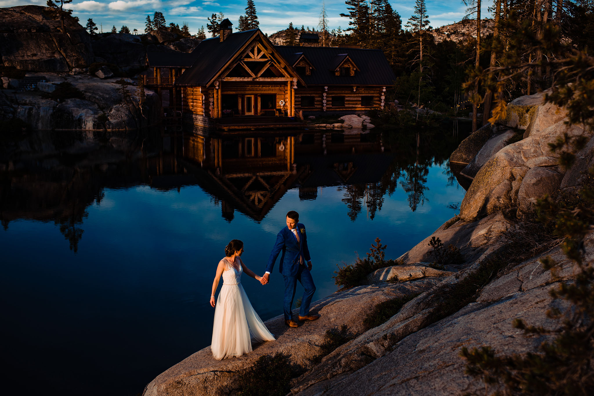 The Hideout wedding venue in the secluded lake tahoe mountain for adventurous couples