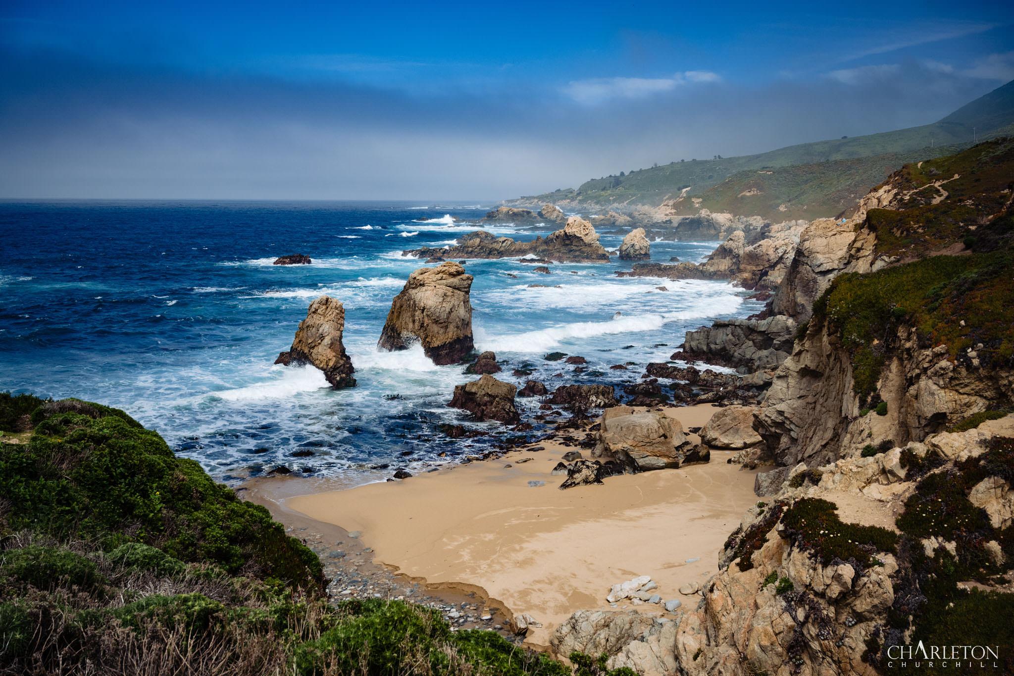 big sur beach landscape photo dark blue ocean
