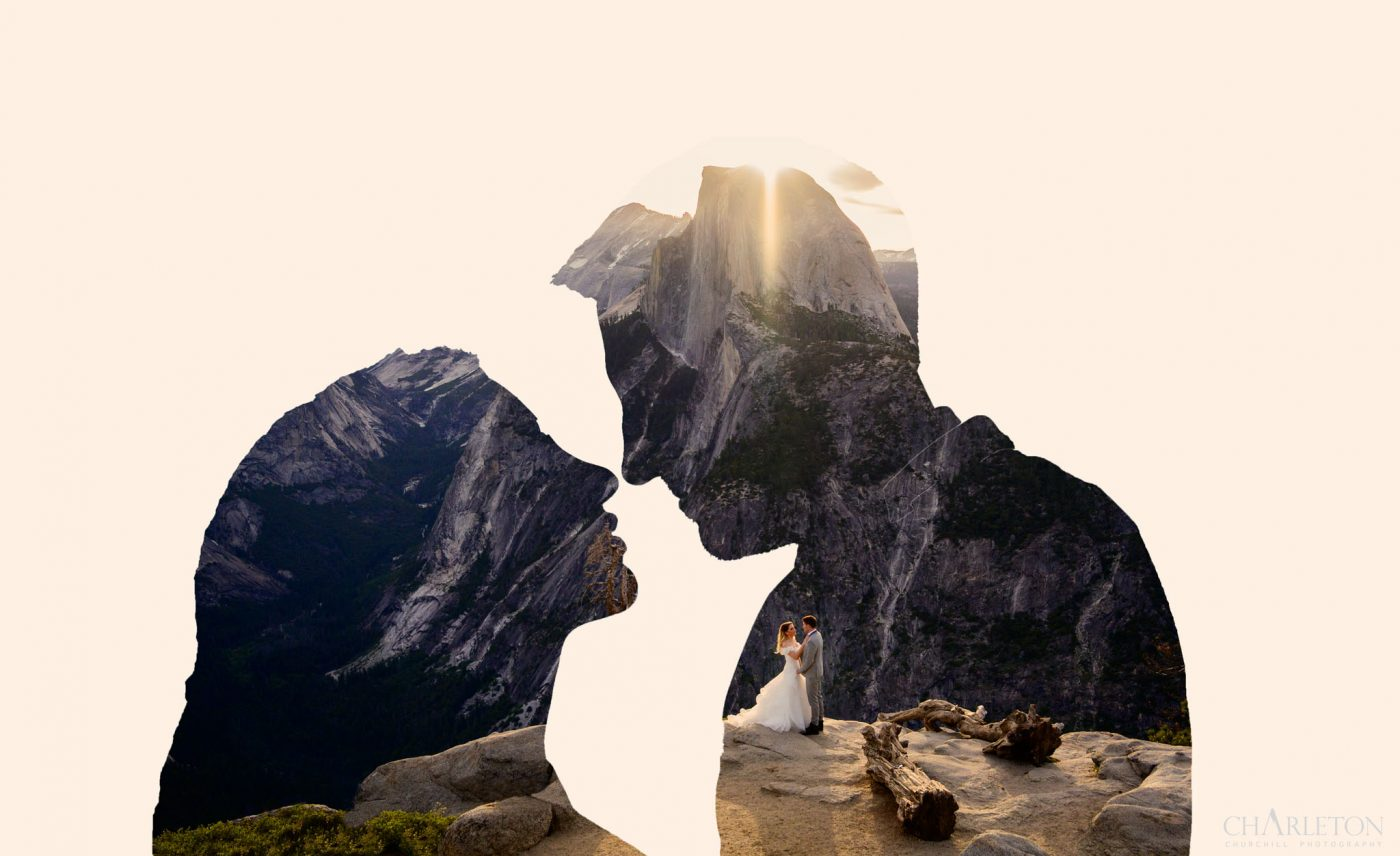 double exposure yosemite