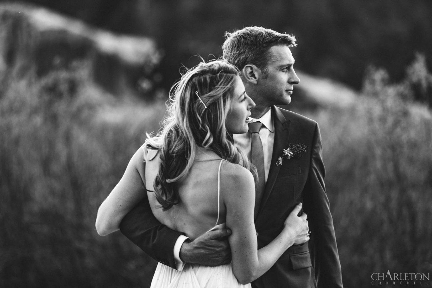 hope valley wedding couple california