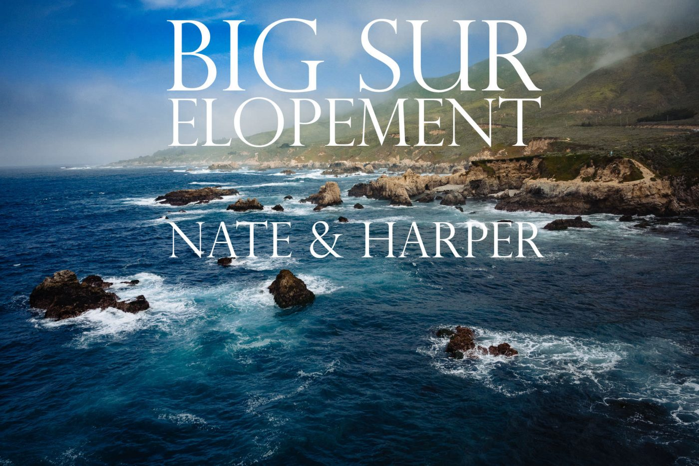 big sur elopement landscape of beach ocean popular place