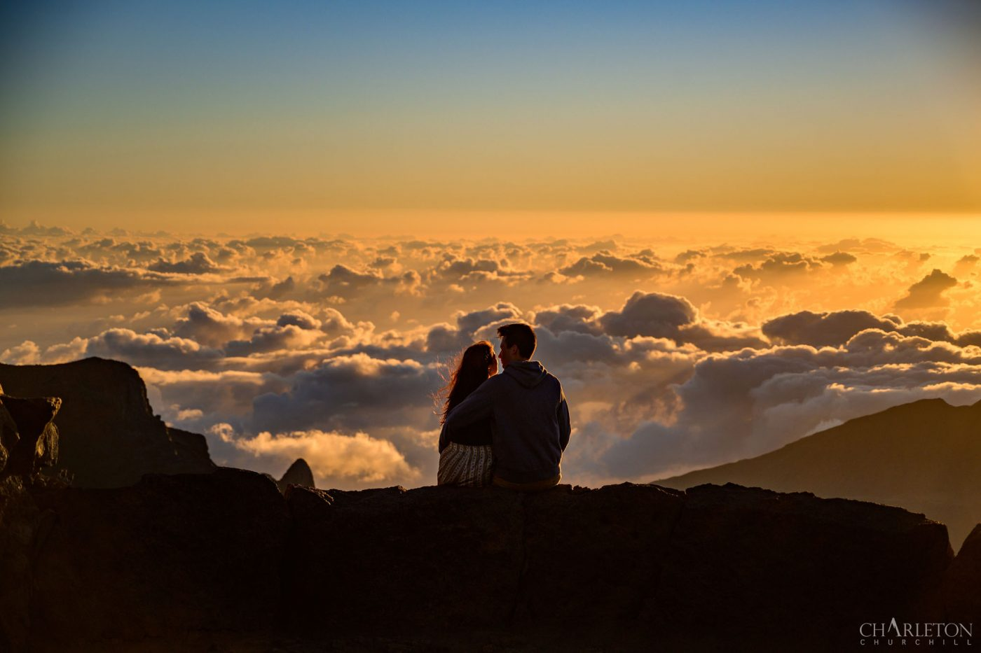 maui wedding photographer adventure photos on the volcano of haleakala