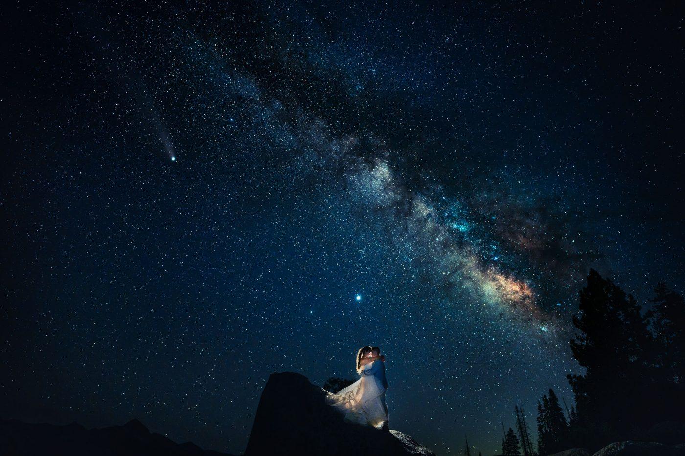 milky way galaxy stars wedding photo by photographer charleton churchill