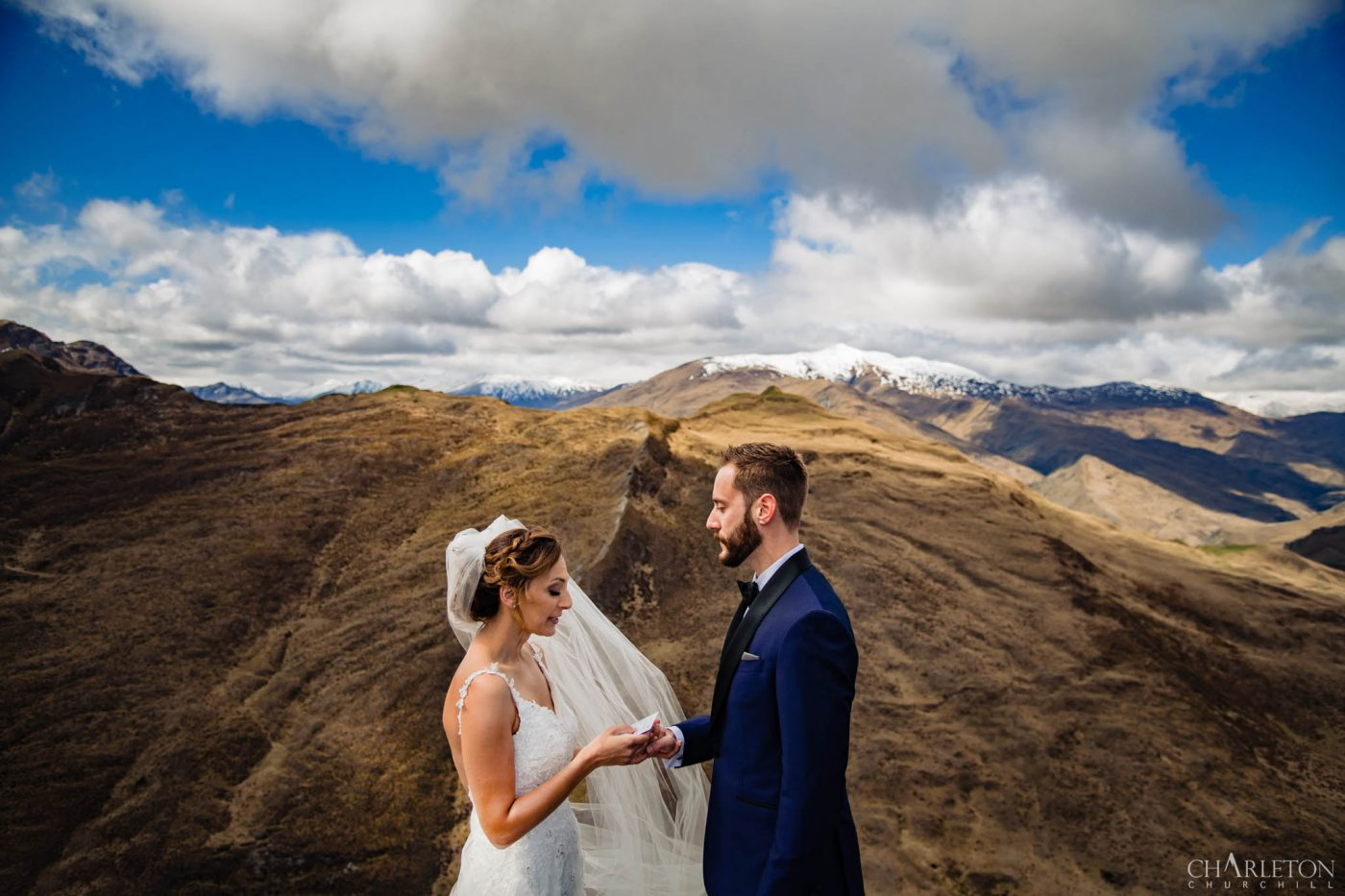 destination wedding ceremony on a mountain top