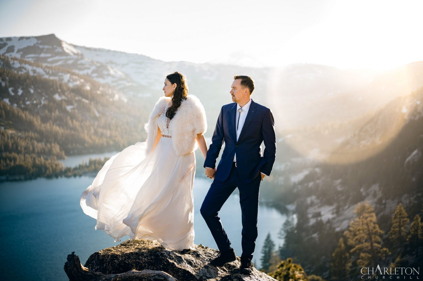 lake tahoe wedding photographer charleton churchill with elopement couple