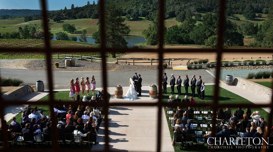 creative vineyard ceremony photo