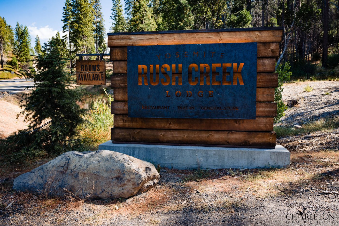 sign and logo of rush creek