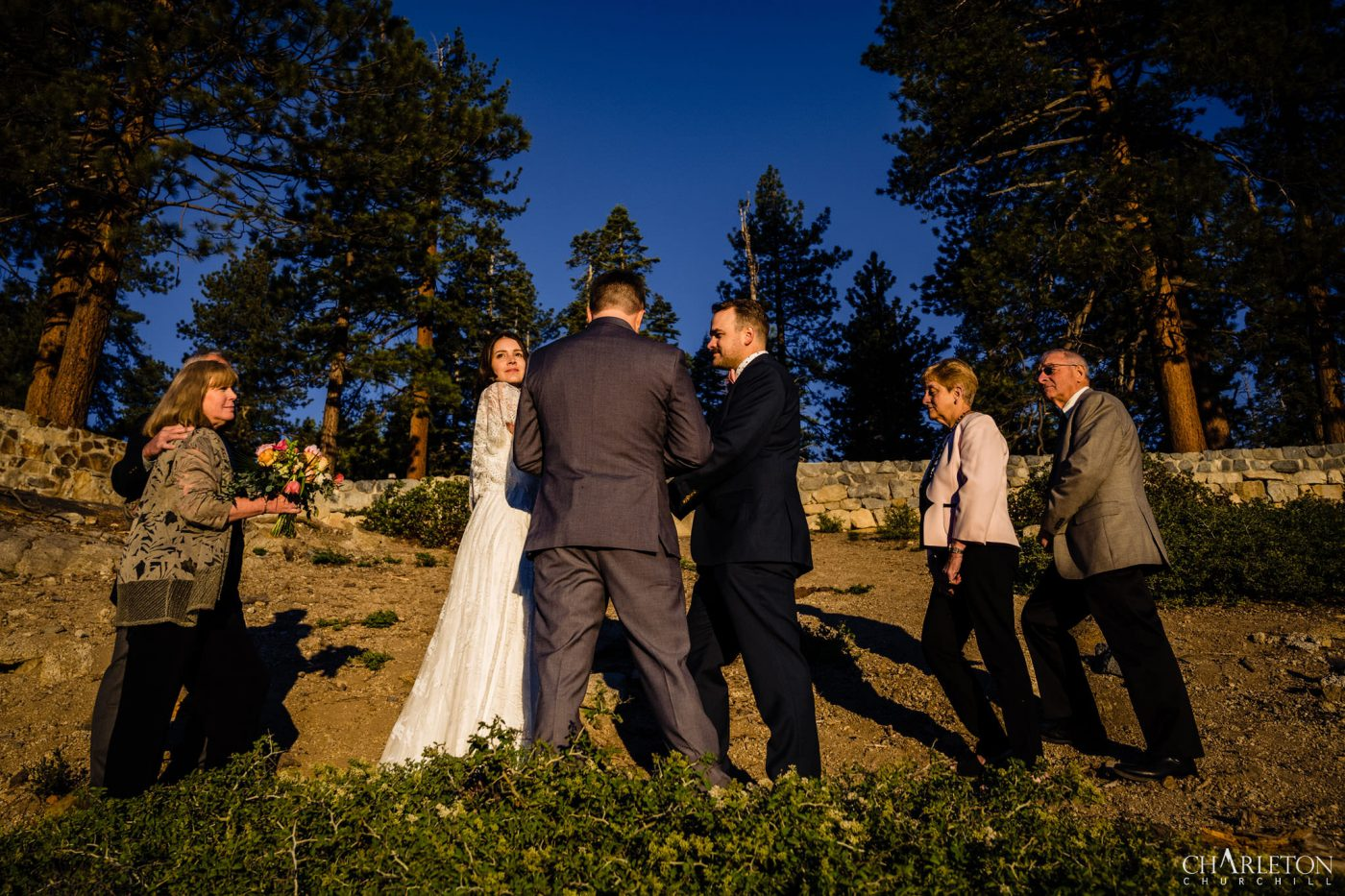 wedding ceremony elopement near glacier Point yosemite national park