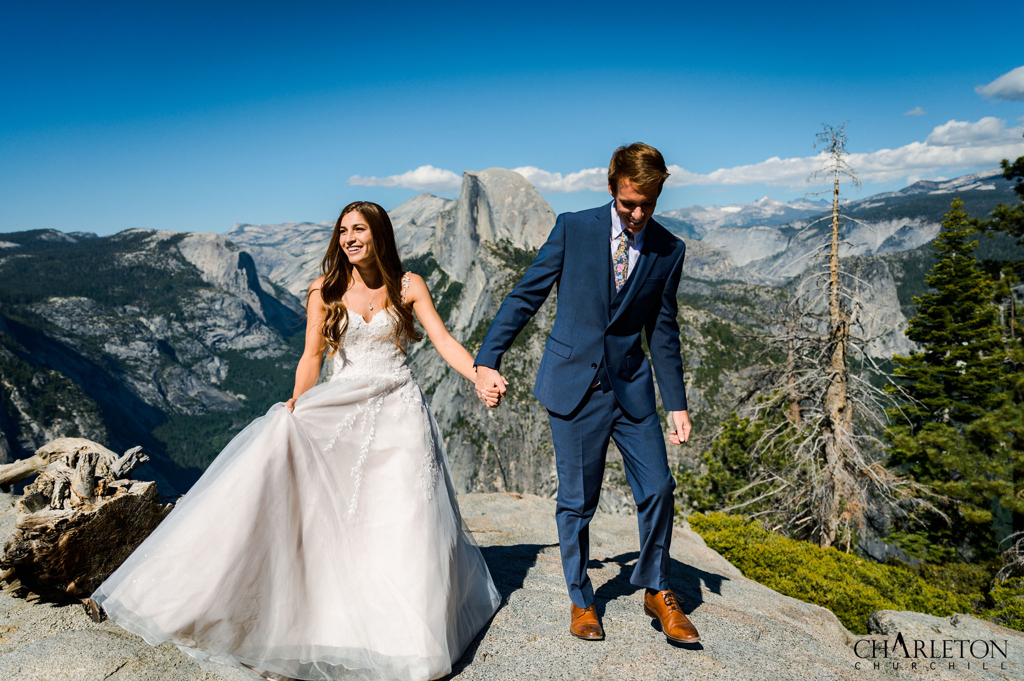glacier point wedding couple married