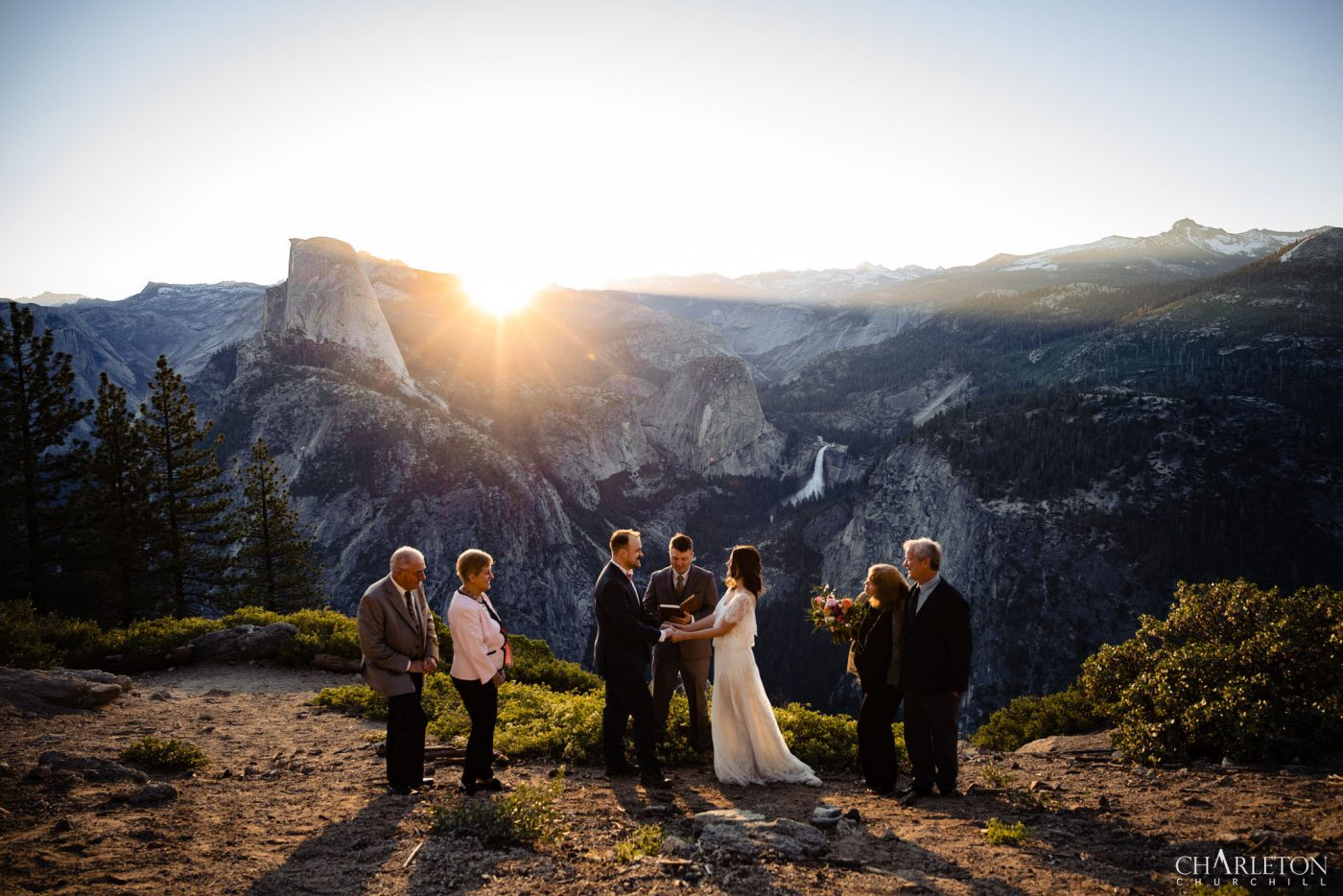 yosemite elopement with family at sunrise