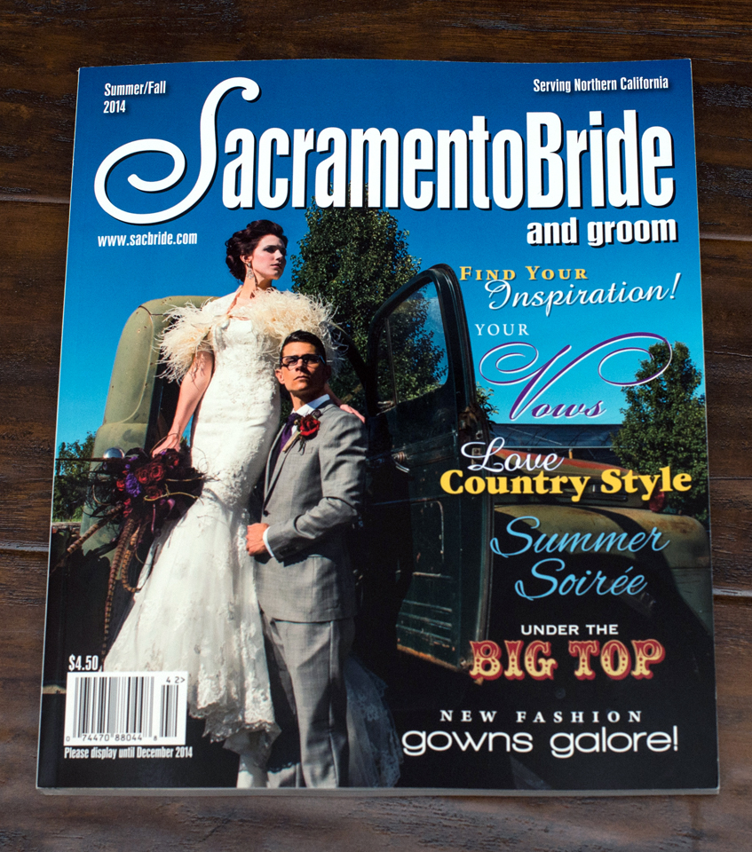 Sacramento Bride and Groom Magazine 2014 season