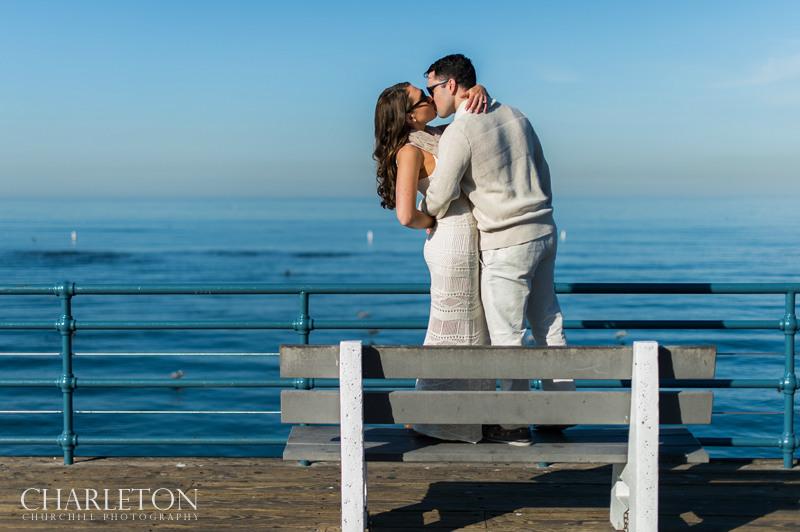 southern california couple kissing