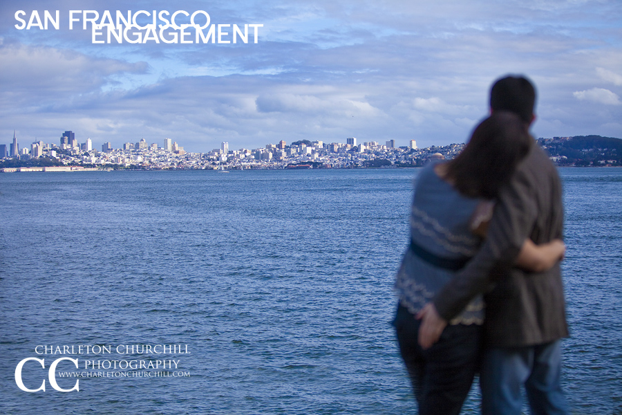 San Francisco Bay engaged couple