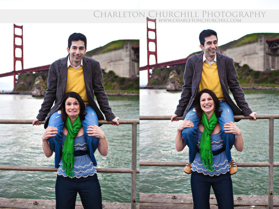 san francisco golden gate engagement session