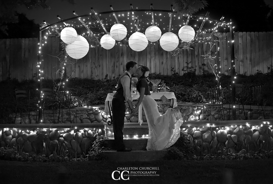 perfect backyard wedding photograph