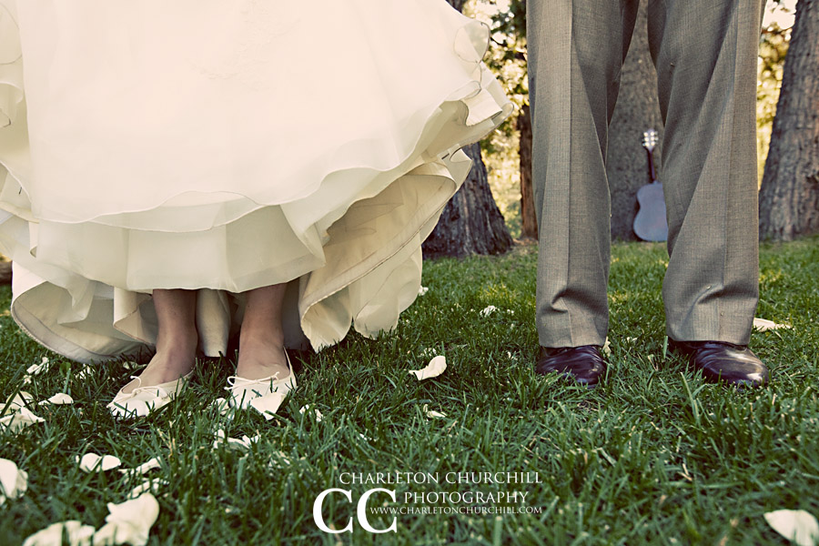 bride and groom shoes photograph