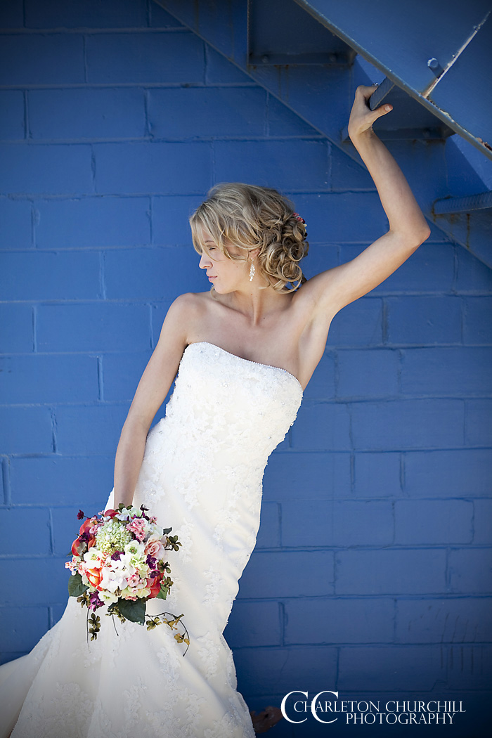 bride winning pose