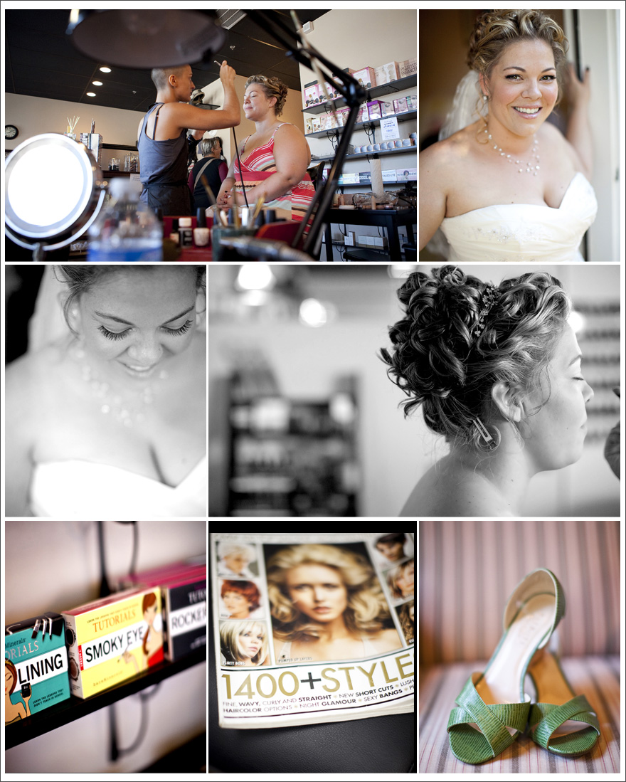 Amador County Wedding photographs of bride and getting ready