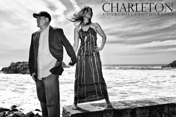 The cliff house San Francisco engagement session and wedding photographer, Charleton Churchill
