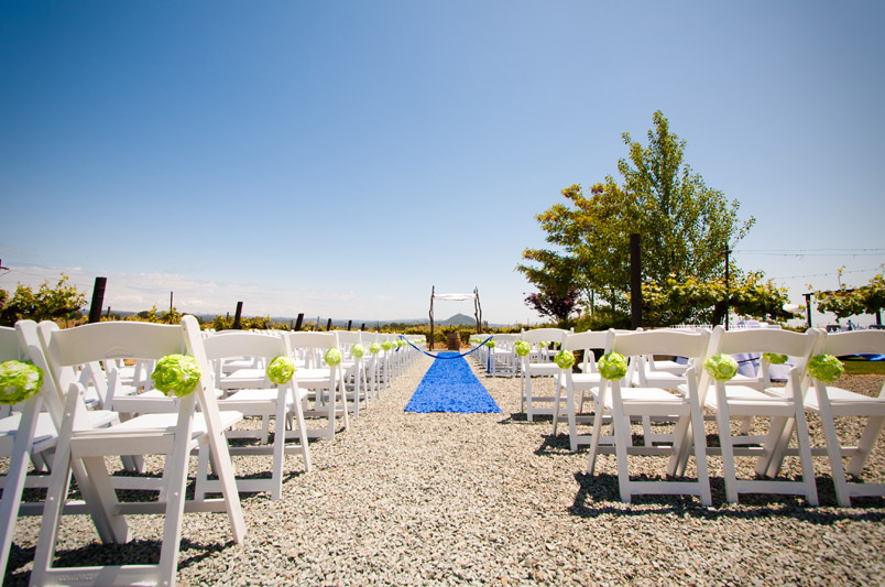 Sierra Ridge Vineyard and Winery wedding event ceremony