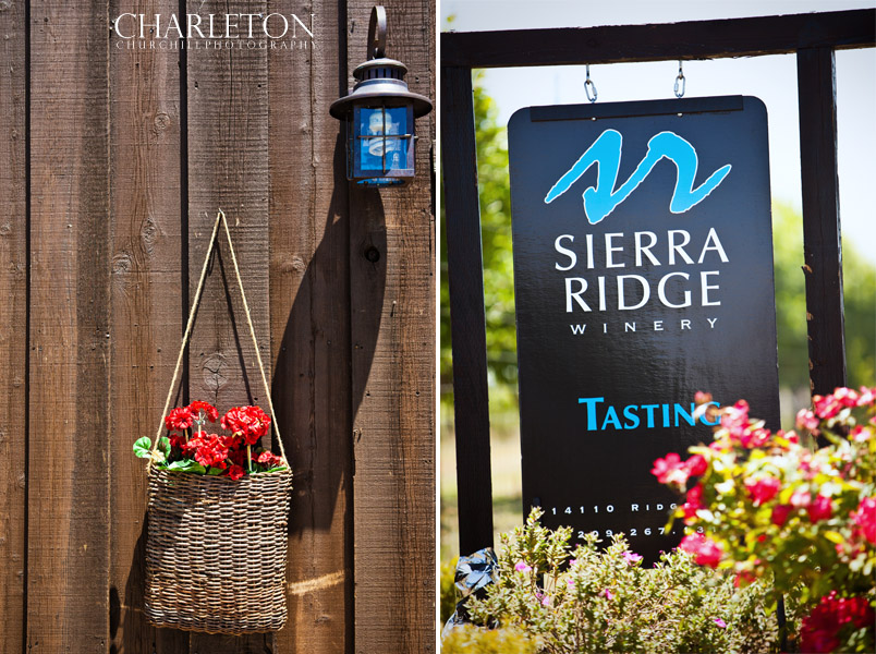 Sierra Ridge winery sign on ridge rd.