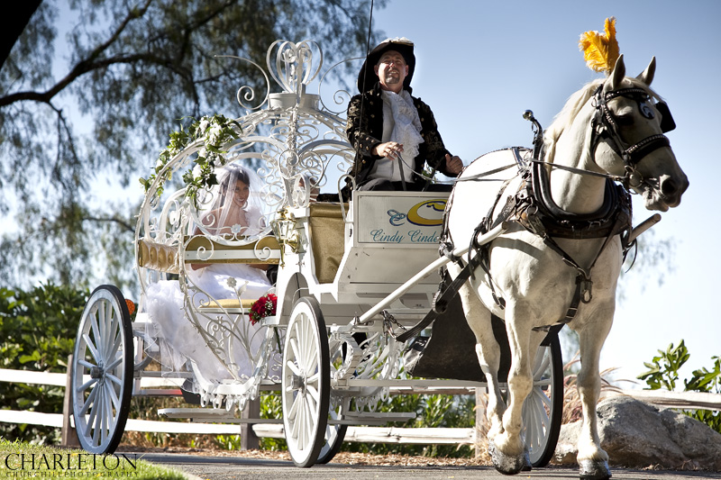 horse carriage wedding photography in Los Angeles southern California at the Pacific Palms Resort in Industry