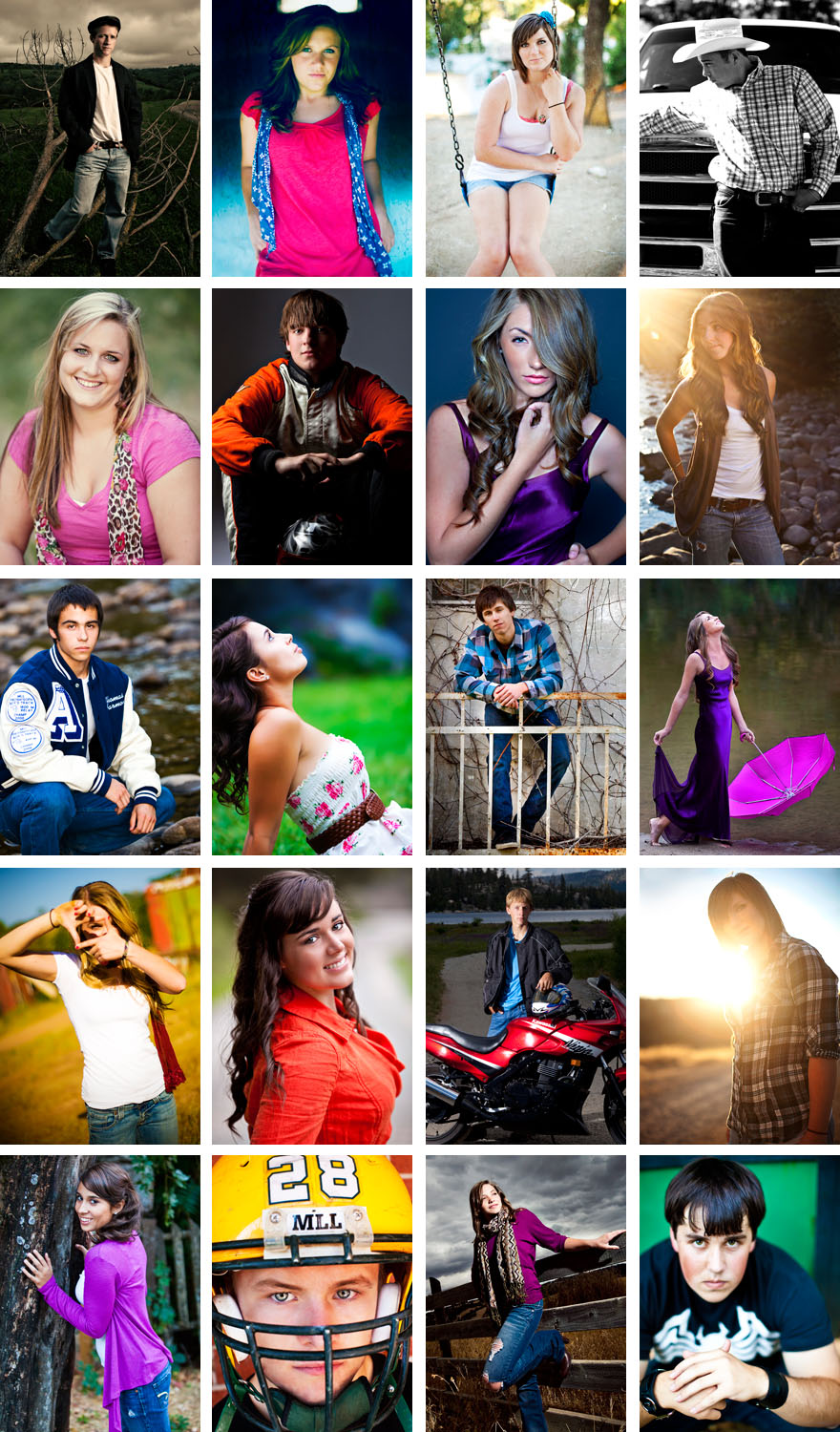 Amador High School and Argonaut senior portraits by photographer