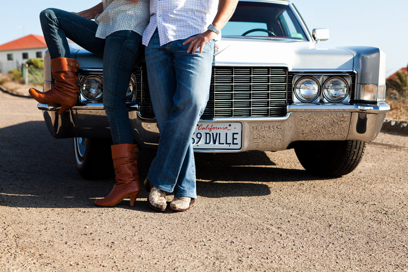 La Jolla Engagement session photographer with car in photographs