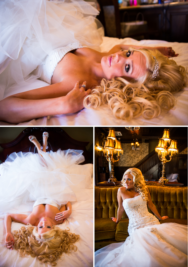 model bride at jackson hotel couch lamps