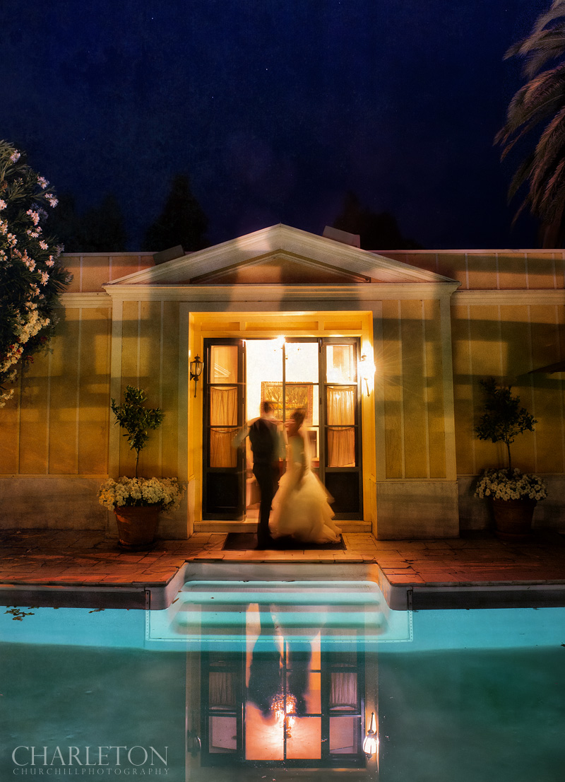 wedding couple at the Sonoma Garden Pavilion artistic photographer