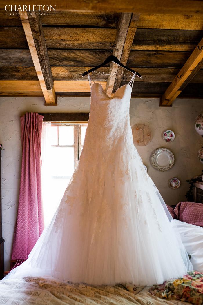 wedding dress at union inn