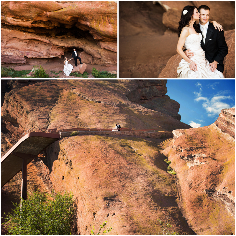 red rocks colorado weddings photography bride groom portraits