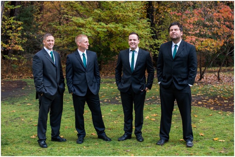 groomsmen at ahwahnee lodge