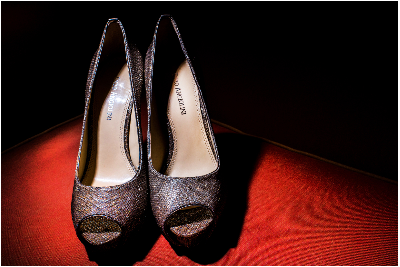 wedding shoes getting ready