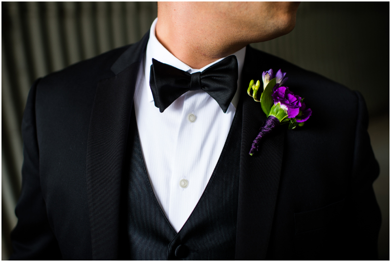 tuxedo groom at elegant wedding
