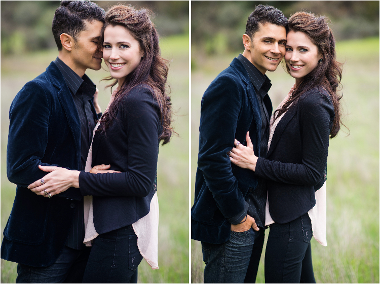 grassy engagement photography by sacramento weddings photographer