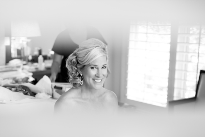 Calistoga ranch bride getting ready with makeup and hair