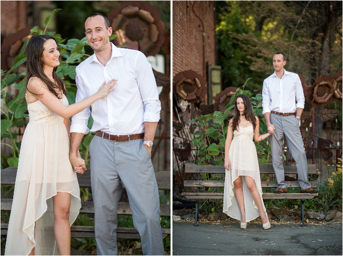fun casual engagement session old town laughing and fun