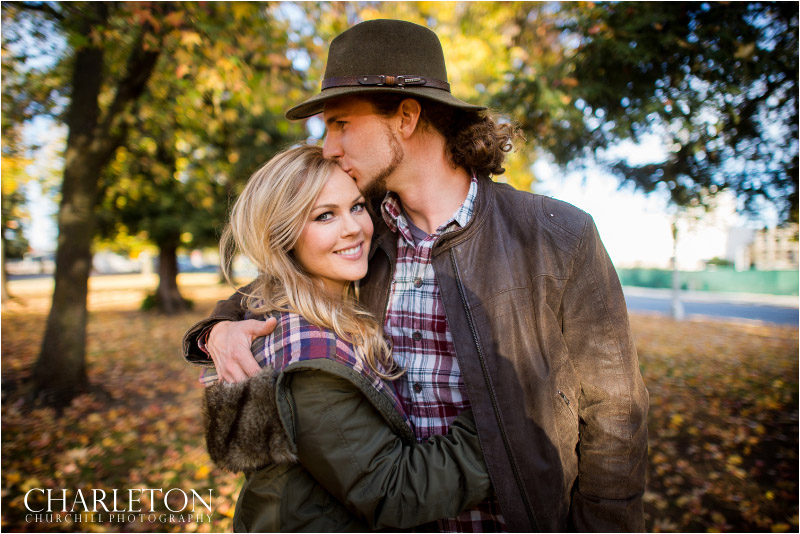 rustic outdoors fall engagement photogapher