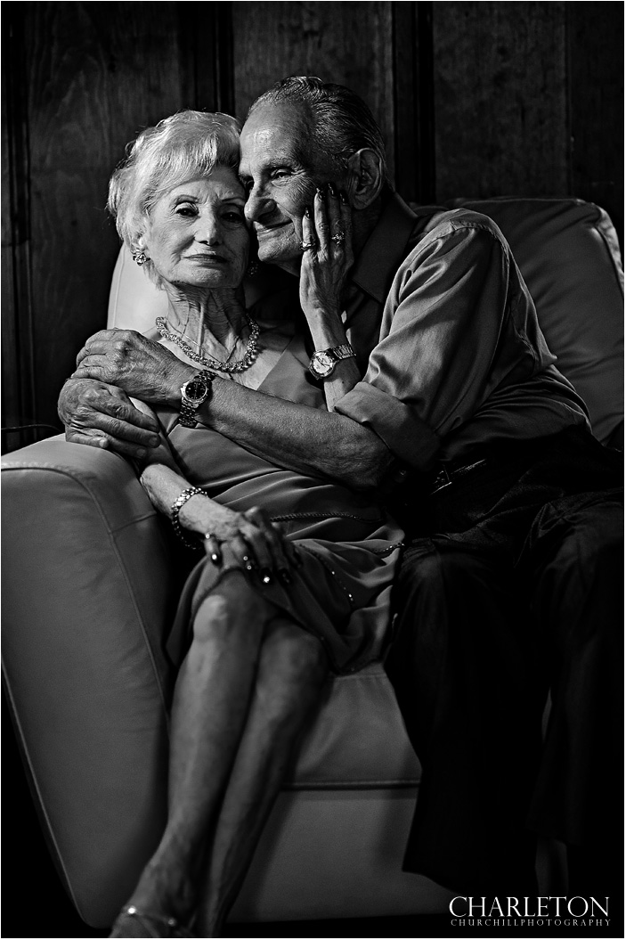 dramatic older couple