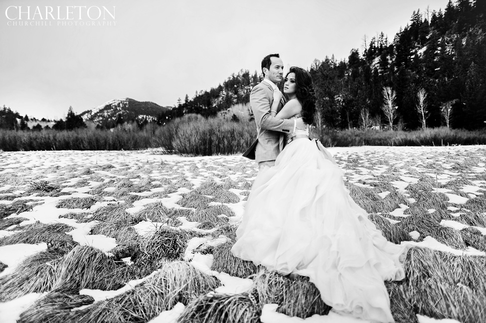 classic snowy mountain wedding