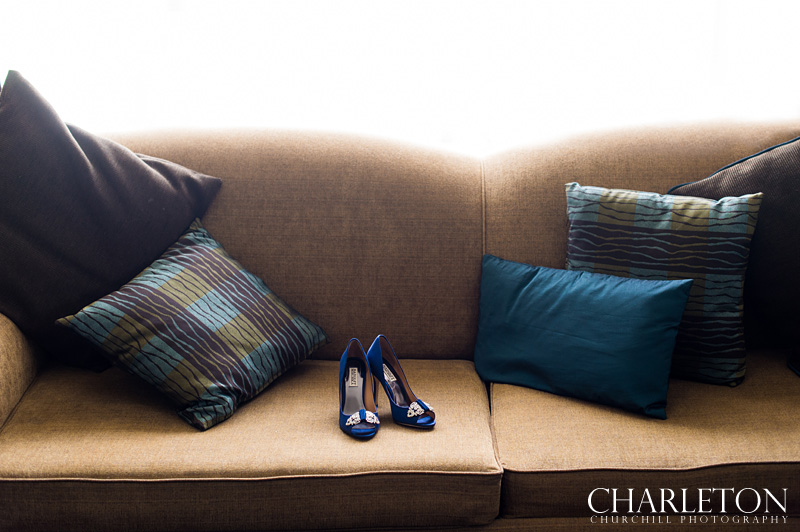 shoes on couch