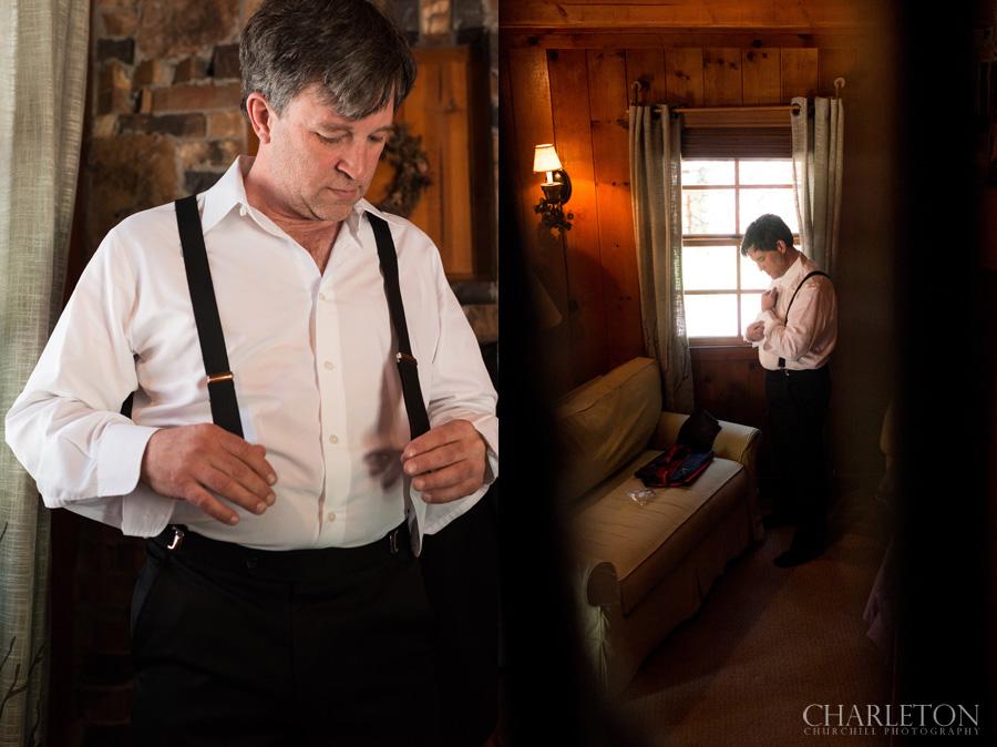 groom preps for day