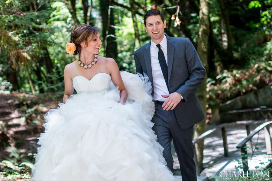 sonoma wedding photos in forest